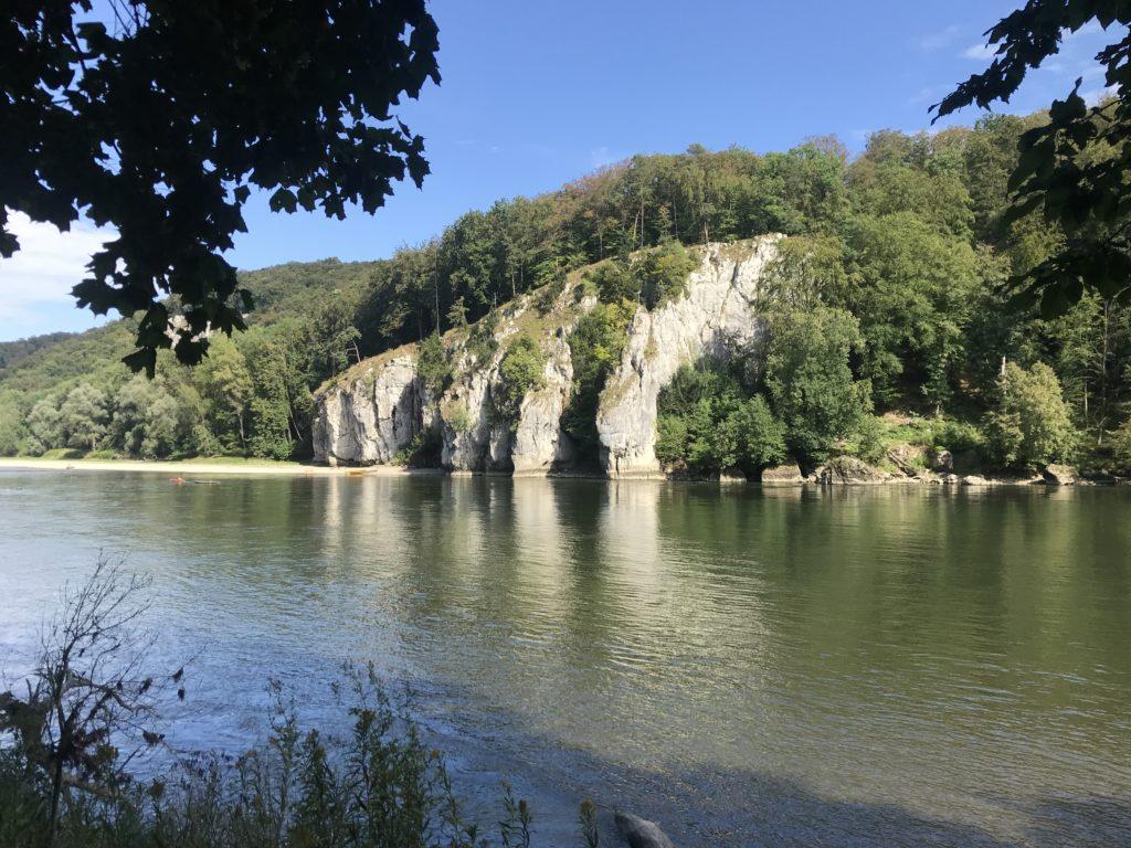 Beeindruckende Naturlandschaft beim Donaudurchbruch nahe Regensburg